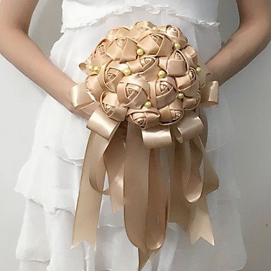 Buy Wedding Flowers Round Roses Bouquets Party/ Evening Satin 9.06 inch(Approx.23cm)