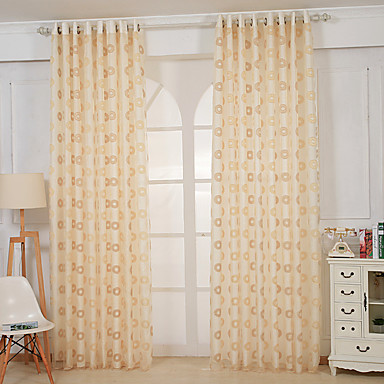 280cm 280cm One Panels Modern Solid Yellow Living Room Polyester Sheer Curtains Shades 4977710