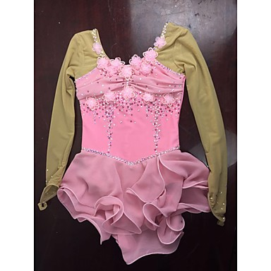 Buy Skating Dresses Women's Pink S / M L XL 6 8 10 12 14 16 Others