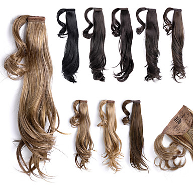 Buy 18 inch Wrap Around Straight Synthetic Ponytail Pony Hair Extensions wigs Pieces,1 Piece,63g