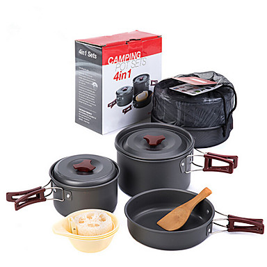 outdoor camping pot with cooking utensils portable On outdoor kitchen gadgets