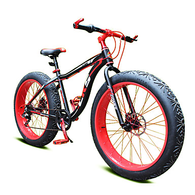 Mountain Bike Cycling 7 Speed 26 Inch/700CC 40mm Unisex / Men's / Unisex kids SHIMANO Double Disc Brake Springer Fork Monocoque