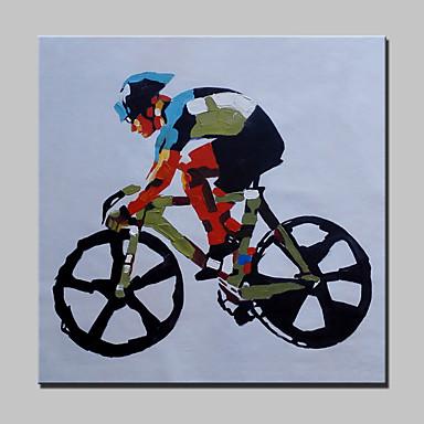 Handgeschilderde abstract mensen cartoon abstracte portretten popmodern e n paneel - Hang een doek ...