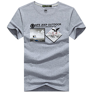 Buy Outdoor Men's T-shirt Camping & Hiking / Climbing Leisure Sports /Running Breathable Sweat-wicking Wicking Summer
