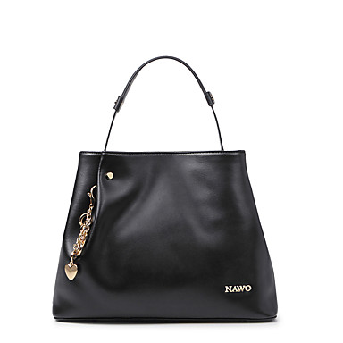 Buy NAWO Women Cowhide Tote Black-N154051