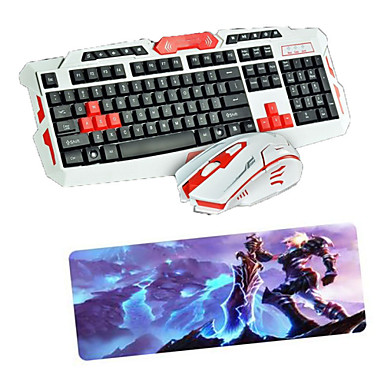 Buy USB 2.4 Gaming Wireless Keyboard Mouse Pad set Multimedia Optical Professional Kit Waterproof