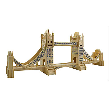 Buy Jigsaw Puzzles 3D / Wooden Building Blocks DIY Toys Famous buildings Wood Beige Model & Toy