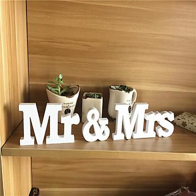 Pvc mr mrs letter wedding decorations 3piece set unique for Shoulder decoration 9 letters