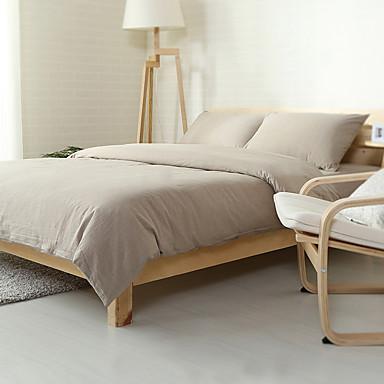 light gray washed cotton bedding sets queen king size bedlinens 4pcs duvet cover set 5000214. Black Bedroom Furniture Sets. Home Design Ideas