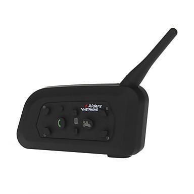Motorcycle Helmet Bluetooth Intercom Waterproof 1200 Meters Range 2x BT Interphone