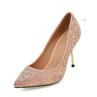 Buy Women's Shoes Fall Heels Outdoor / Office & Career Casual Stiletto Heel Sequin Sparkling Glitter&9-83