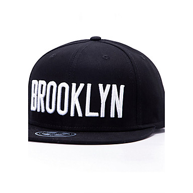Fashion Men Women White Letter Brooklyn Embroidery Street Dance Baseball Caps