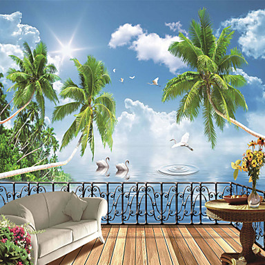 Buy JAMMORY Wallpaper Home Wall Covering Canvas Adhesive required Mural Belvedere Beach3XL(14'7''*9'2'')