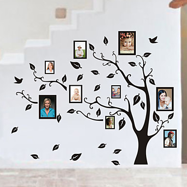 Family tree photo diy pvc wall sticker vintage posters for Diy family tree wall mural