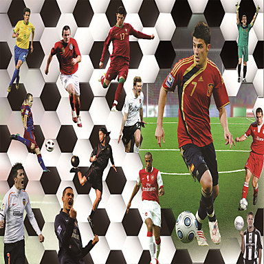 Buy JAMMORY Wallpaper Home Wall Covering Canvas Adhesive required Mural Football Match3XL(14'7''*9'2'')