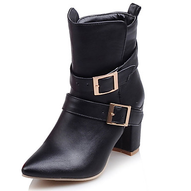 Buy Women's Shoes Fall / Winter Fashion Boots Combat Office & Career Casual Chunky Heel/9-5