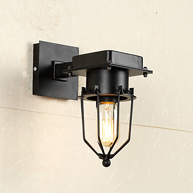 Wall Light Metal Box : American Loft Industrial Wall Lamps Vintage Bedside Wall Light Metal Cage Lampshade Dining/ Bars ...