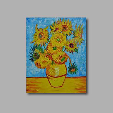 Peint la main abstrait a fleurs botanique peintures l 39 huile modern - Peinture a l huile moderne ...