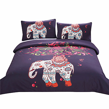 beddingoutlet boho bedding elephant tree black printed bohemia duvet cover set bedspread twin. Black Bedroom Furniture Sets. Home Design Ideas