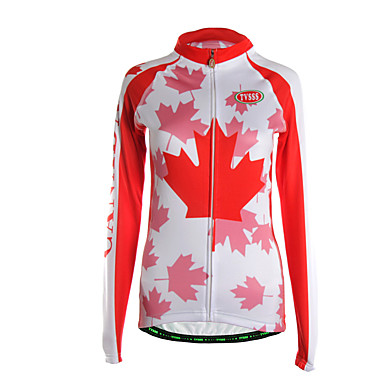 Sports cycling jersey women 39 s long sleeve breathable warm for Lightweight breathable long sleeve shirts