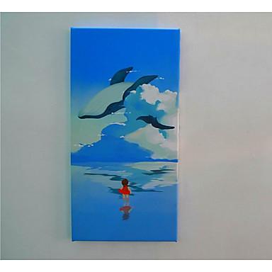 Unframed toile paysage style un panneau toile verticale for Decoration murale verticale