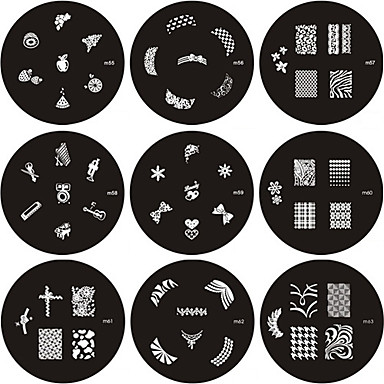 Nail Art Stamp Stamping Image Template Plate M Series