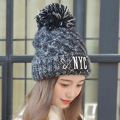 мода новый зима контакт. nyc письма большой шерсть линия шляпа мс тёплый один шляпа вязать шляпа