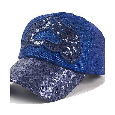 The New Spring And Summer Fashion Ladies Sequin Baseball Cap Outdoor Leisure Cap Hat Duck Tongue