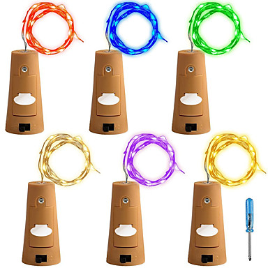 6.6-Foot 20-LED Bottle Fairy String Lights 6-Pack