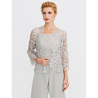 1a436565b264 3/4 Length Sleeve Lace Wedding / Party / Evening Women's Wrap With Lace  Shrugs