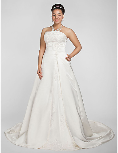 Lanting bride a line princess petite plus sizes for Fall wedding dresses plus size