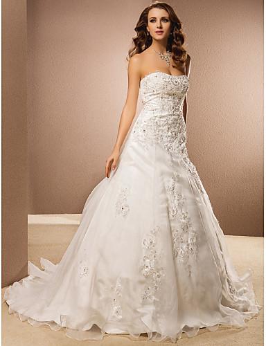 Lanting sposa una linea petite / più dimensioni abito da sposa ...
