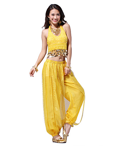 Dance Crystal Cotton with Coins and Sequins Belly Dance Outfits Top