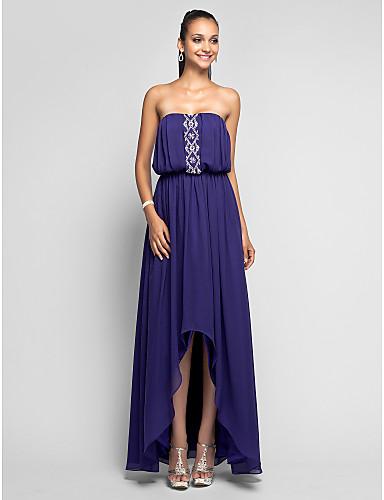 Vestido assimétrico azul