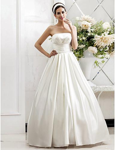 свадебные платья из атласа