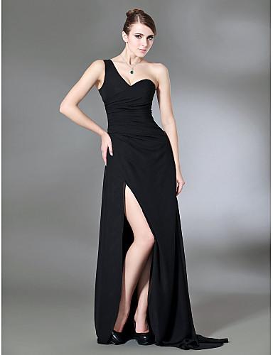 Vestido de formatura preto sensual