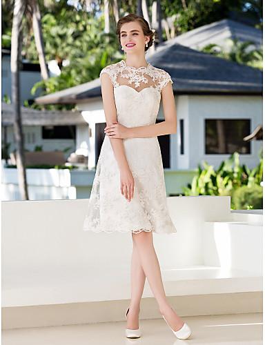 Vestido evasê branco