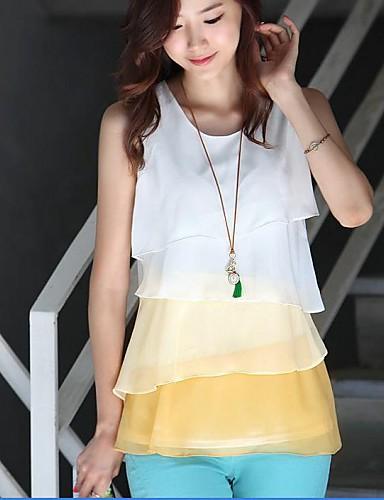 مدل بلوز حریر کره ای سفید لیمویی