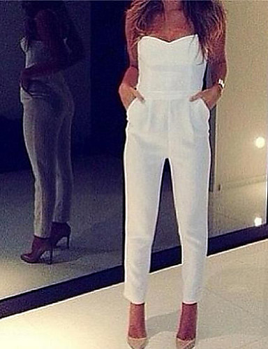 Buy Abigail V Neck Sleevless Fashion Fitted Jumpsuits