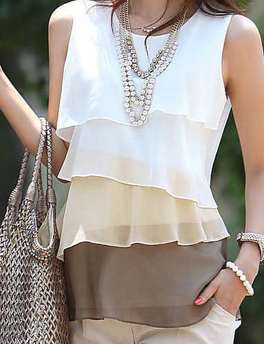 Buy SW Elegant Multicolor Sleevless Slim T Shirt