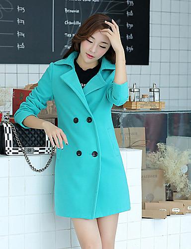 Buy Aier Women's Winter New Fashion Coat Outwear(Yellow,Fuchsia,Green,Pink)L018
