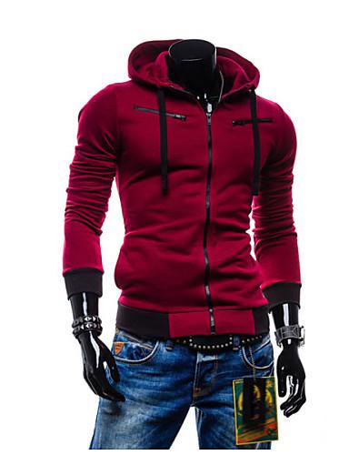 Buy Y&ZY Men's Fleece Hooded Coat