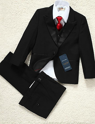 Buy Polyester Ring Bearer Suit - 5 Pieces Includes Jacket / Shirt Vest Pants Bow Tie