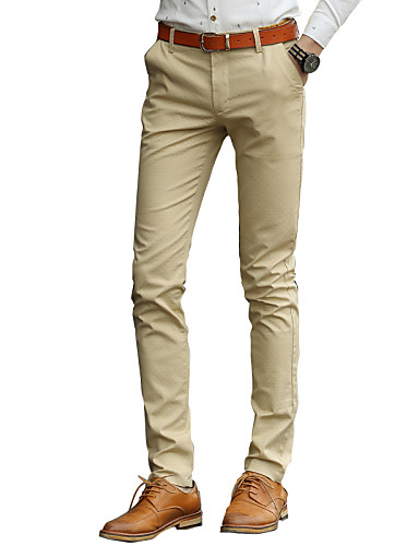 The British men's business casual men casual pants pants SLIM ...