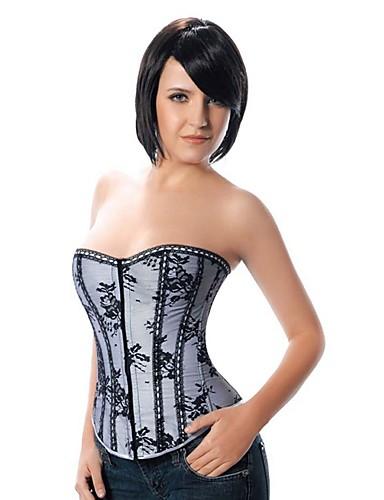 serre taille corset grande taille v tement de nuit femme sexy push up lace imprim. Black Bedroom Furniture Sets. Home Design Ideas