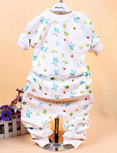 Buy Girl's Casual/Daily Print Clothing Set,Cotton Spring / Fall Black Blue White