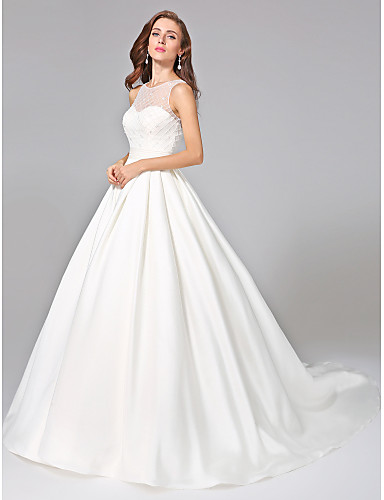 Elegant Wedding Dress Open Back : Bride? ball gown wedding dress elegant luxurious open back