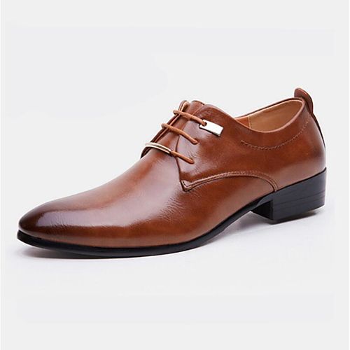 a06256d16a67 Men s Formal Shoes PU(Polyurethane) Spring   Fall Business Oxfords Black    Brown   Party   Evening