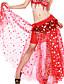 dancewear de poliéster con patrón / danza del vientre falda de impresión de rendimiento para las damas más colores