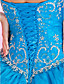 Ball Gown Sweetheart Strapless Floor-length Organza Prom Dress With Pick-ups